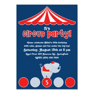 Circo/convite de aniversário do carnaval convite 11.30 x 15.87cm