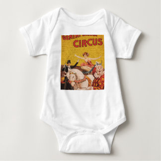 Circo do vintage body para bebê