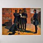 Circo do vintage: Houdini e o circo, 1908 Posteres