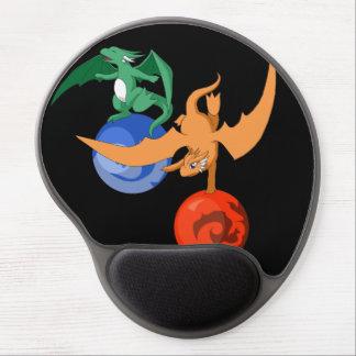 Circo Mousepad preto ergonómico do dragão Mouse Pad De Gel