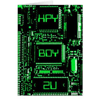 """Circuite o cartão de aniversário do verde """"HPY BDY"""