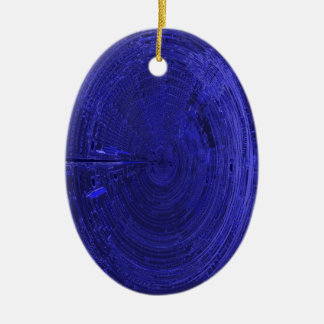 circuito eletrônico da fantasia ornamento de cerâmica oval