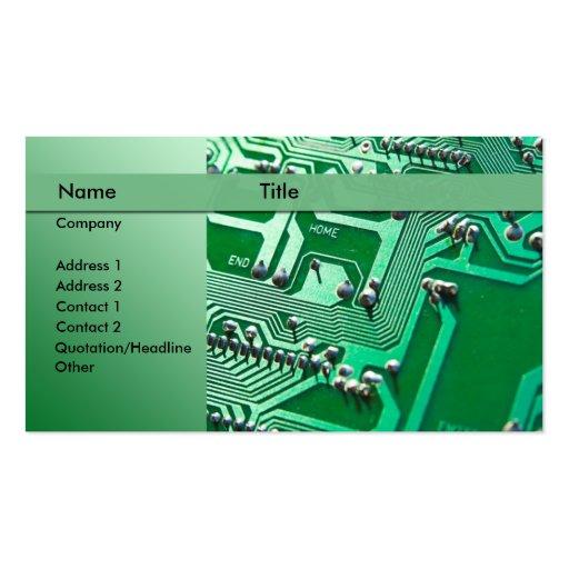circuitos elétricos - técnico modelos cartões de visitas