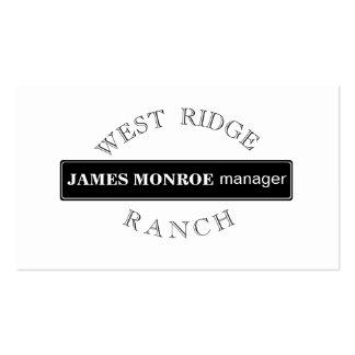 Circularmente rancho circular cartão de visita