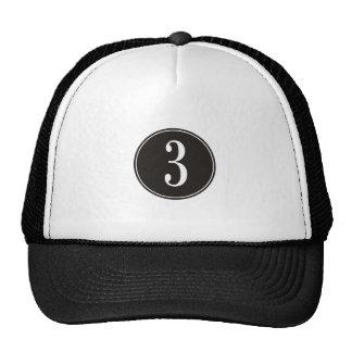 Círculo #3 preto boné
