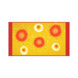 Círculo amarelo das canvas