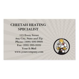 Círculo Ca do especialista do aquecimento da chita Cartão De Visita