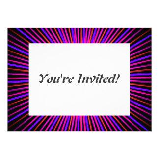 Círculo cor-de-rosa do espírito convites personalizados
