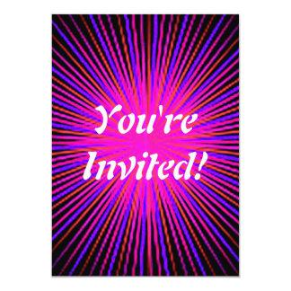 Círculo cor-de-rosa do espírito convite personalizado