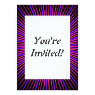 Círculo cor-de-rosa do espírito convite 12.7 x 17.78cm