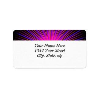 Círculo cor-de-rosa do espírito etiqueta de endereço