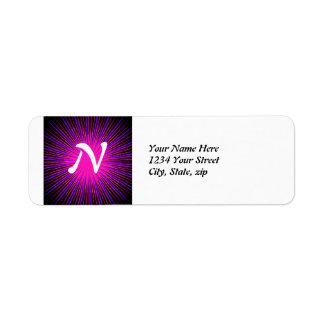 Círculo cor-de-rosa do espírito etiqueta endereço de retorno