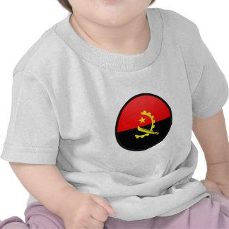 Círculo da bandeira da qualidade de Angola Tshirts