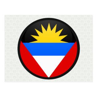 Círculo da bandeira da qualidade de Antígua e de Cartão Postal