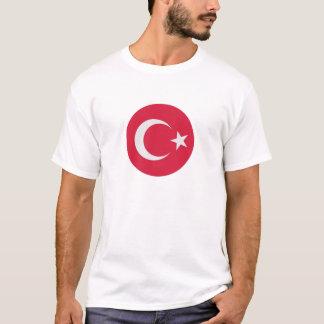 Círculo da bandeira de Turquia Camiseta