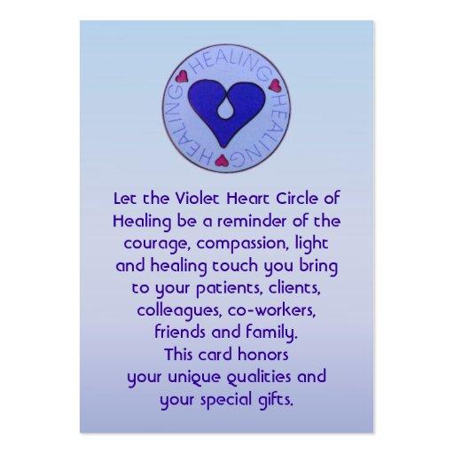 Círculo da cura - o cartão do cuidador cartões de visitas