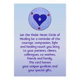 Círculo da cura - o cartão do cuidador cartão de visita grande