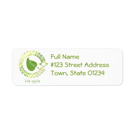 Círculo da etiqueta de endereço do remetente da