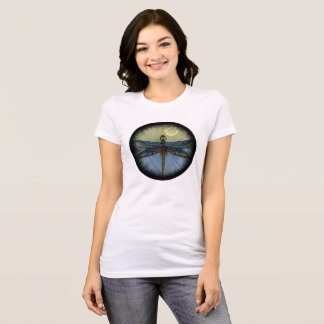 Círculo da libélula do art deco camiseta