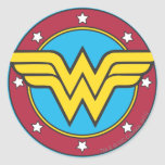 Círculo da mulher maravilha & logotipo das adesivos redondos