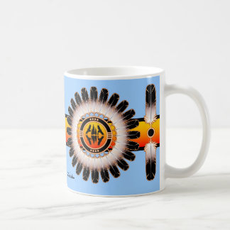 Círculo da reflexão caneca de café