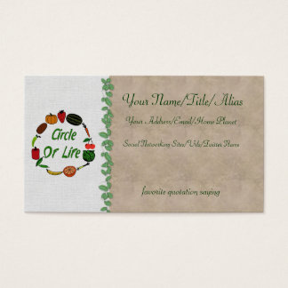Círculo da vida cartão de visitas