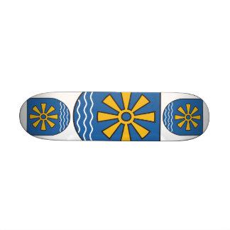 Círculo de lago de solo brasão skate boards
