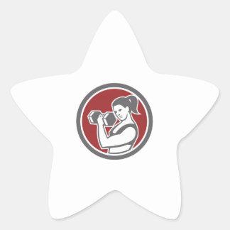 Círculo de levantamento fêmea da malhação do adesivo estrela