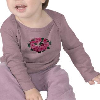 Círculo de miúdos cor-de-rosa de Impatiens T-shirts