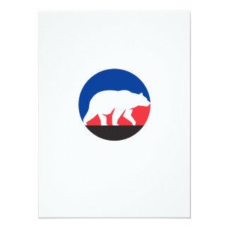 Círculo de passeio da silhueta do urso de urso convite 13.97 x 19.05cm