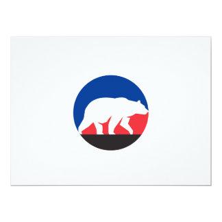 Círculo de passeio da silhueta do urso de urso convite 16.51 x 22.22cm