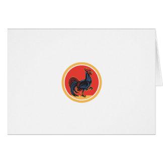 Círculo de passeio de marcha do galo da galinha cartão