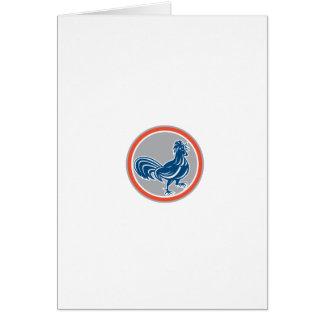 Círculo de passeio do galo da galinha retro cartão