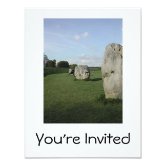 Círculo de pedra antigo. Avebury, Wiltshire, Convite Personalizado