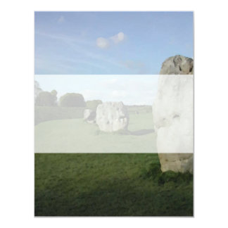 Círculo de pedra antigo. Avebury, Wiltshire, Convite 10.79 X 13.97cm