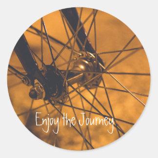 Círculo do fã da bicicleta da etiqueta