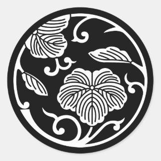 Círculo do ramo da hera adesivo redondo