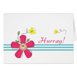 Círculo do último de Chemo-Hurray Cartão Comemorativo