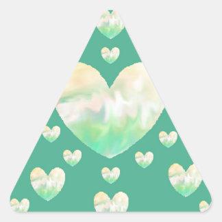 Círculo dos corações adesivo triangular