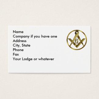 Círculo dos pedreiro cartão de visitas