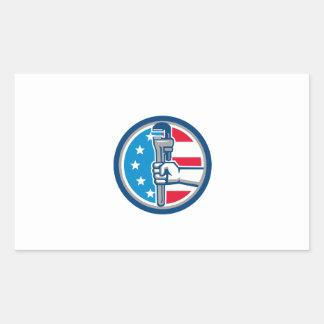 Círculo ereto R da bandeira dos EUA da chave de Adesivo Retangular