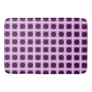 Círculo geométrico da colheita do Lilac Tapete De Banheiro
