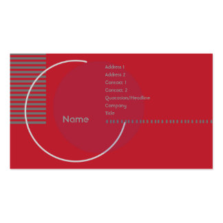Círculo geométrico vermelho - negócio cartão de visita