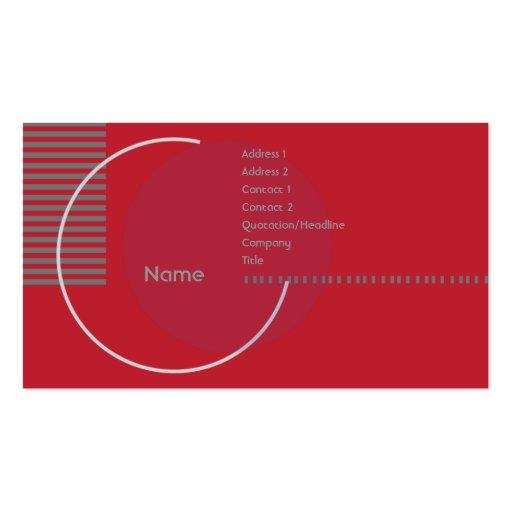 Círculo geométrico vermelho - negócio modelos cartão de visita