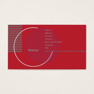 Círculo geométrico vermelho - negócio cartão de visitas