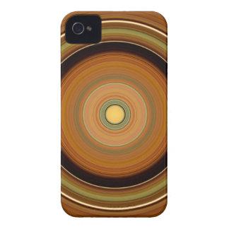 Círculo hipnótico Brown Capinha iPhone 4