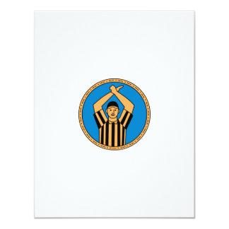 Círculo mono L do sinal de mão do árbitro do Convite 10.79 X 13.97cm