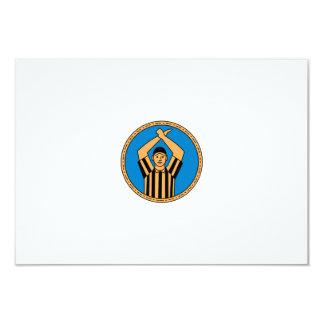 Círculo mono L do sinal de mão do árbitro do Convite 8.89 X 12.7cm