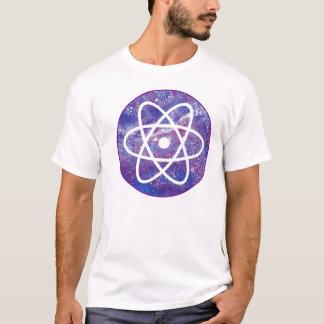 Círculo roxo do átomo camiseta