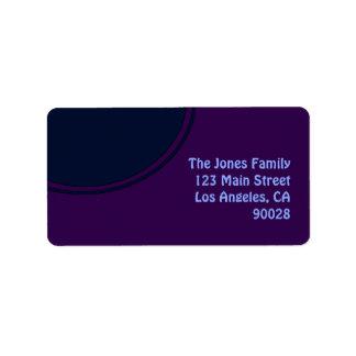 Círculo roxo escuro da modificação do azul etiqueta de endereço